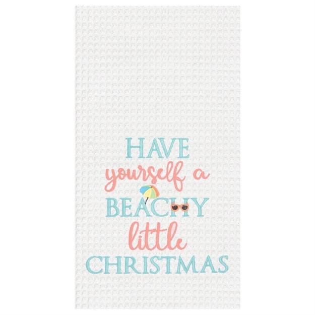 Beachy Little Christmas Towel
