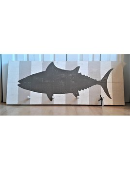 40x16 Empire Tuna with Weathered Wood Stripes with Pegs
