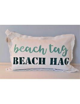 Beach Tag Beach Hag Oasis & Teal 12x18 Pillow