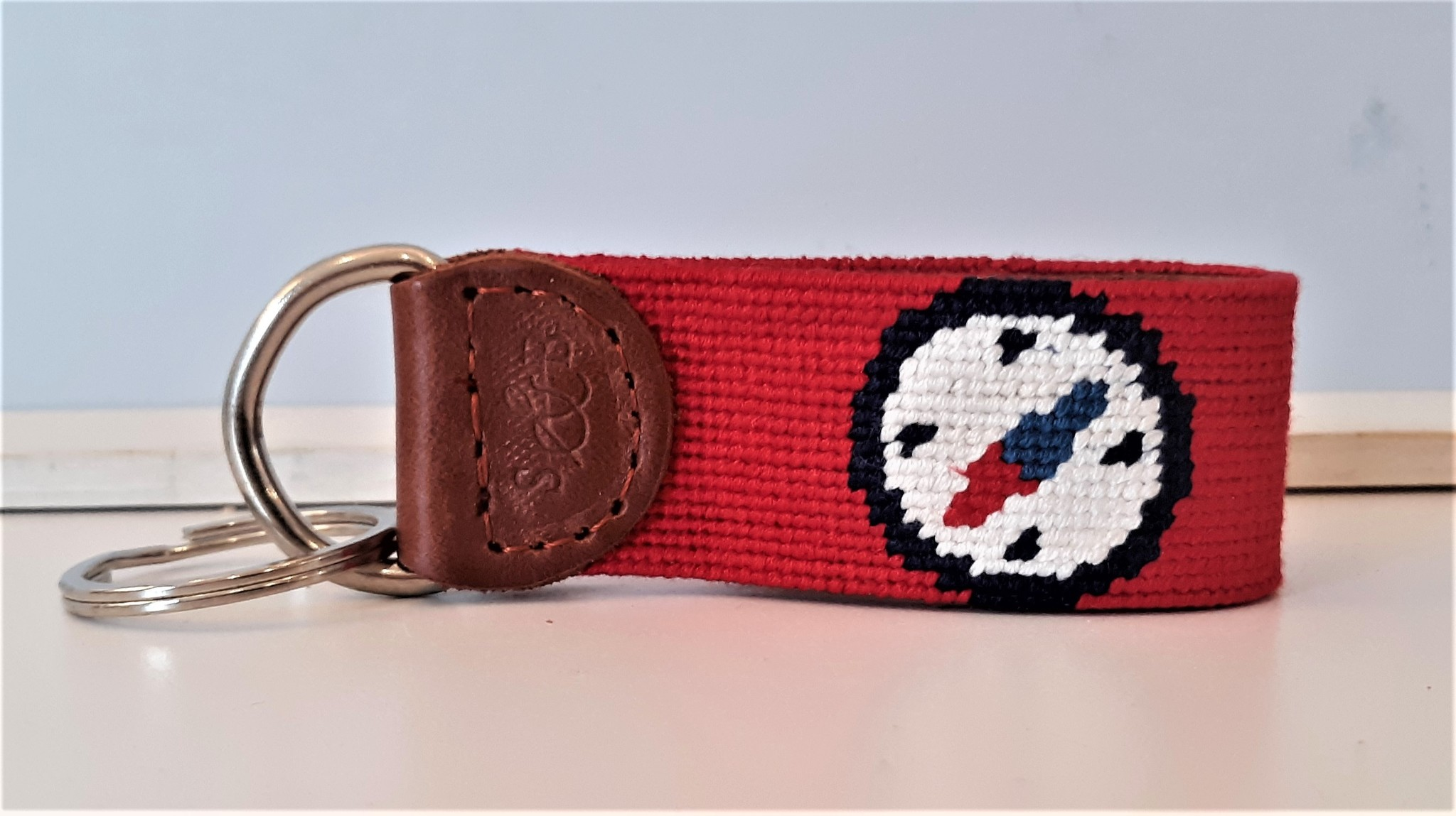 Key Fob Compass Rose Red