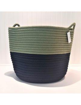 18x18x18 Navy Moss Green Basket