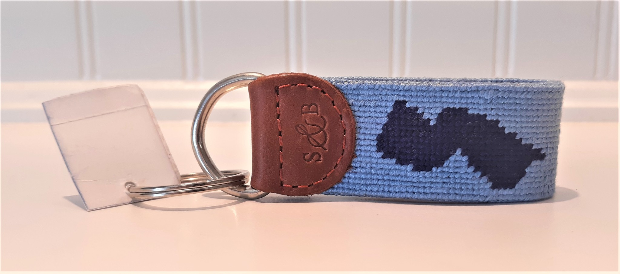 Key Fob NJ Home Light Blue