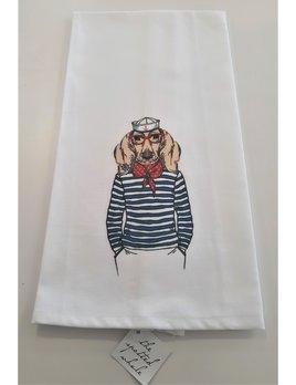 Lab Sailor Hand Towel