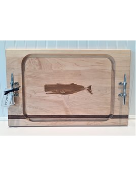 Large Steak Board Whale Cleat Handles