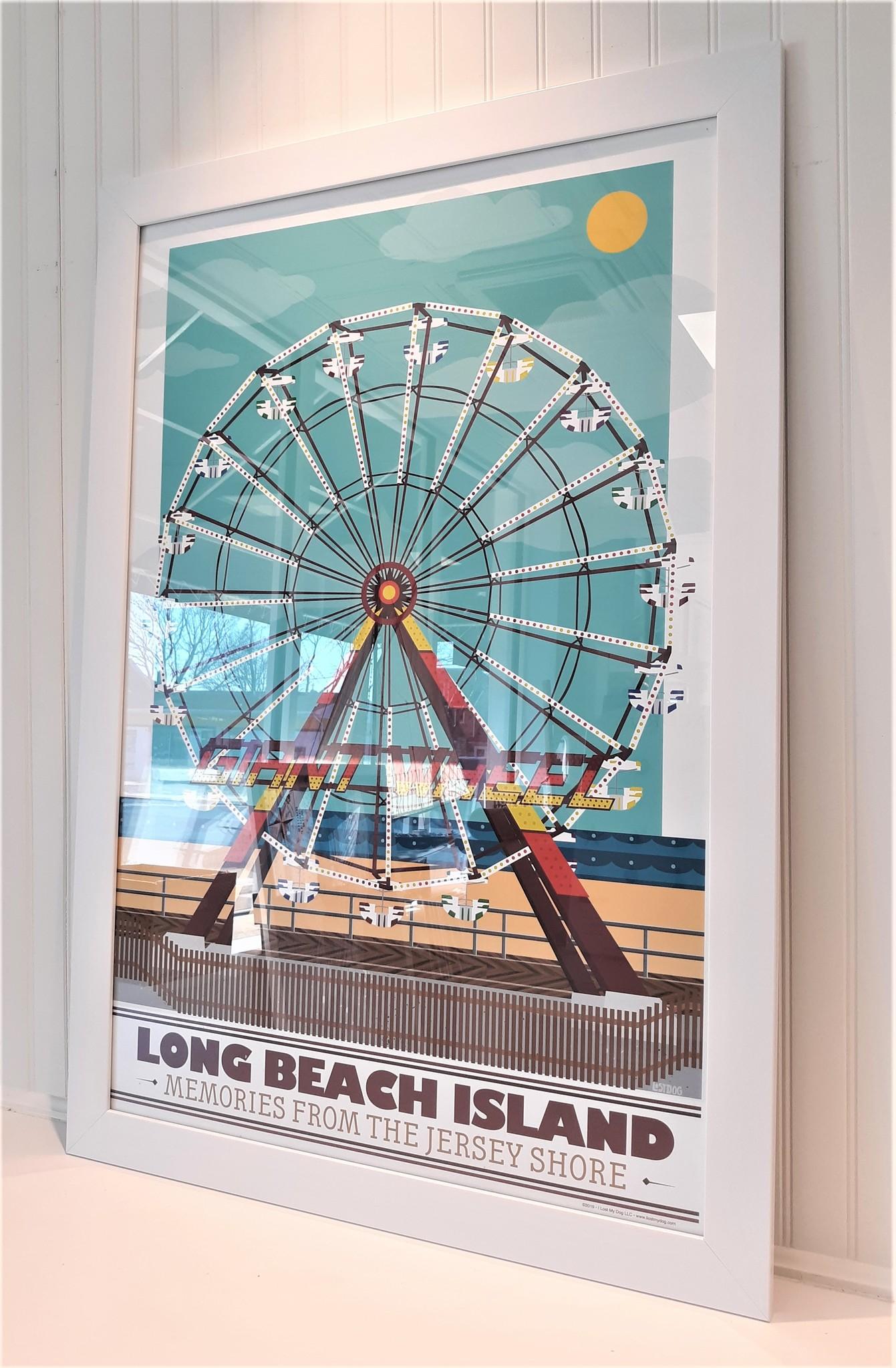 LBI  Ferris Wheel 24x36 White Frame