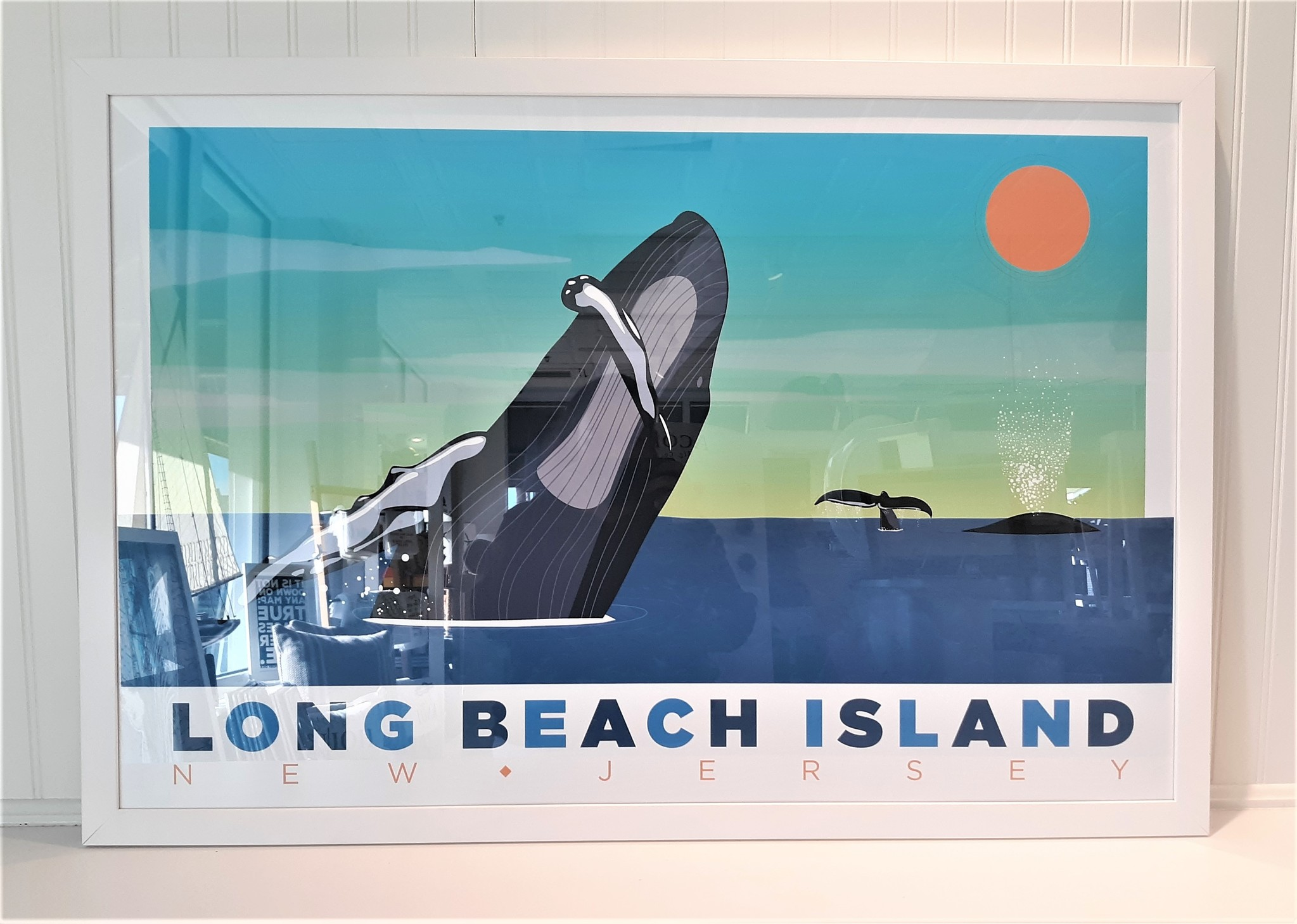 LBI Whale Out Of Water 24x36