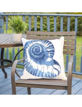 Nautilus Shell Outdoor Subrella Pillow