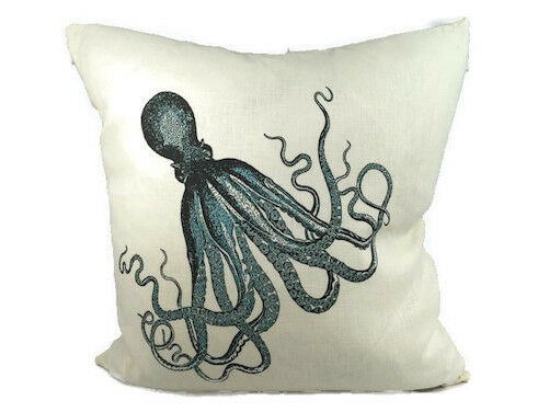 Pillow Octopus on White 20x20