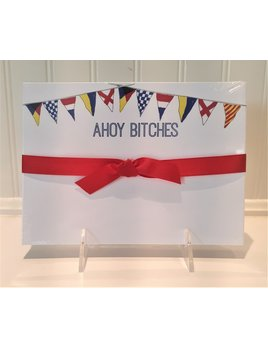 Ahoy Bitches Signal Flags Slab Pad