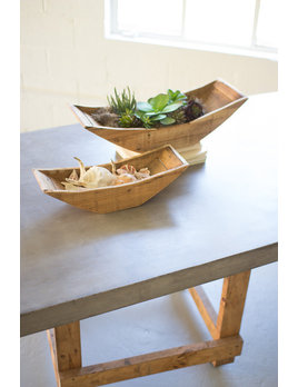 Recycled Wooden Boat Tray Planters Small