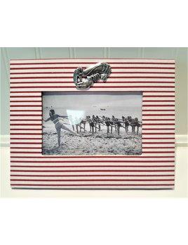 Red White Frame Pewter Lobster 4x6 Horizontal
