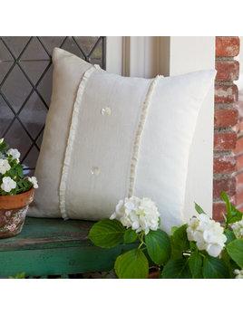 Hampton Cream Linen Porch Pillow 20x20