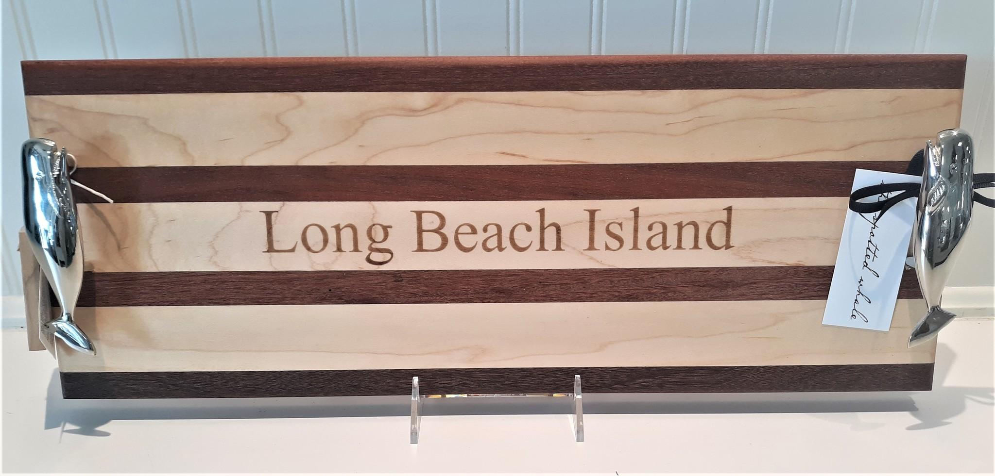 Double Whale Handle Serving Board 8x20 Long Beach Island