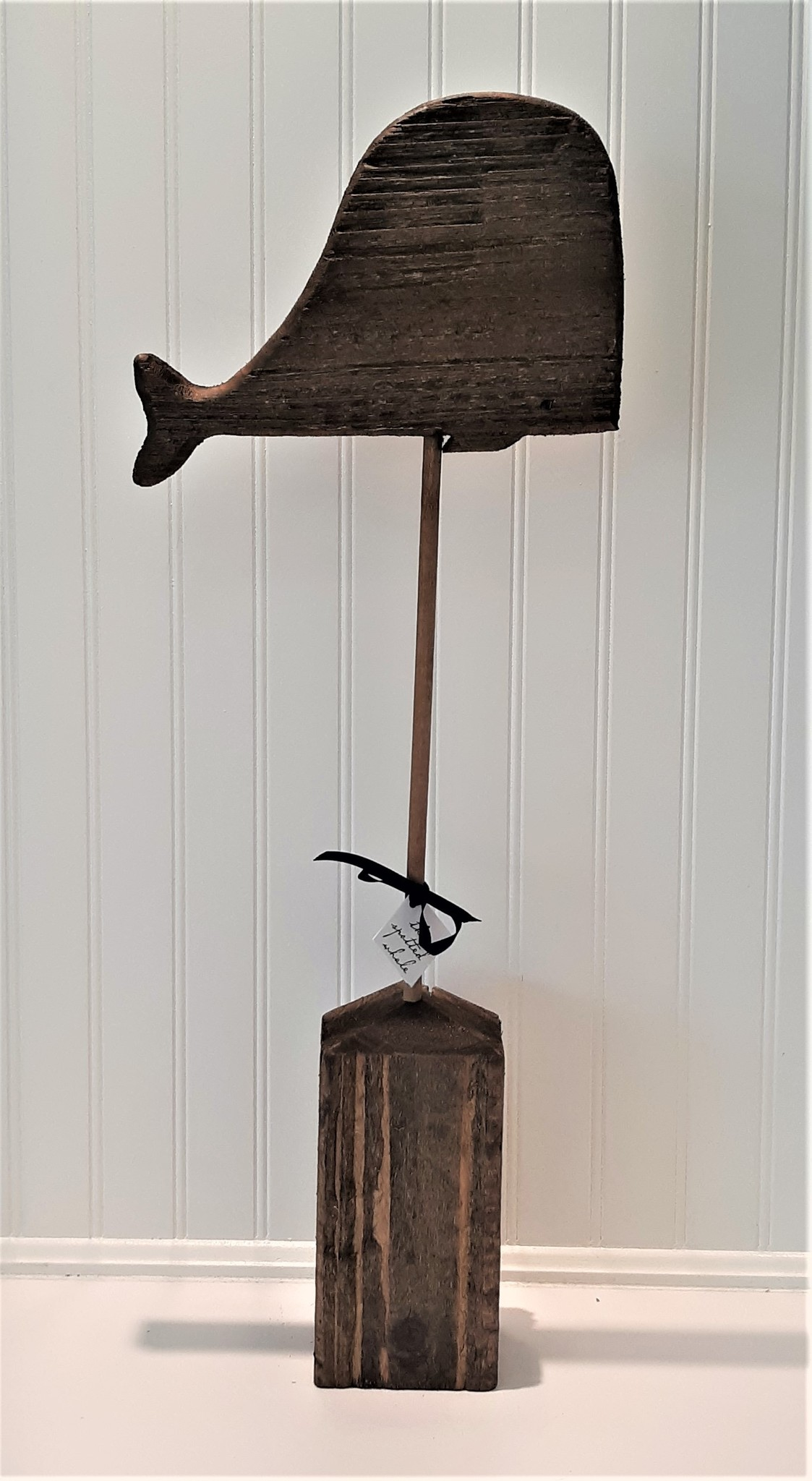 Recycled Wooden Whales on Stand 3 of 4
