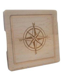 Cutting Board Compass Rose 12x12