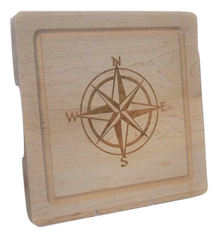 Cutting Board Compass Rose 12x12