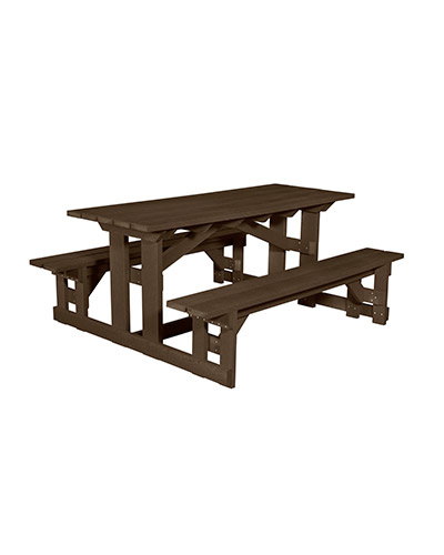 "72"" Rectangular Picnic Table"