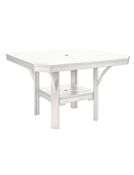 """St. Tropez 45"""" Square Dining Table with 1.625"""" Umbrella Hole"""