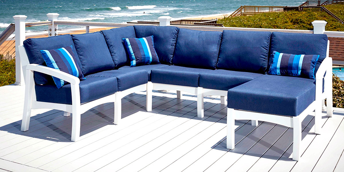 Bay Breeze Sectional with Chaise Lounge
