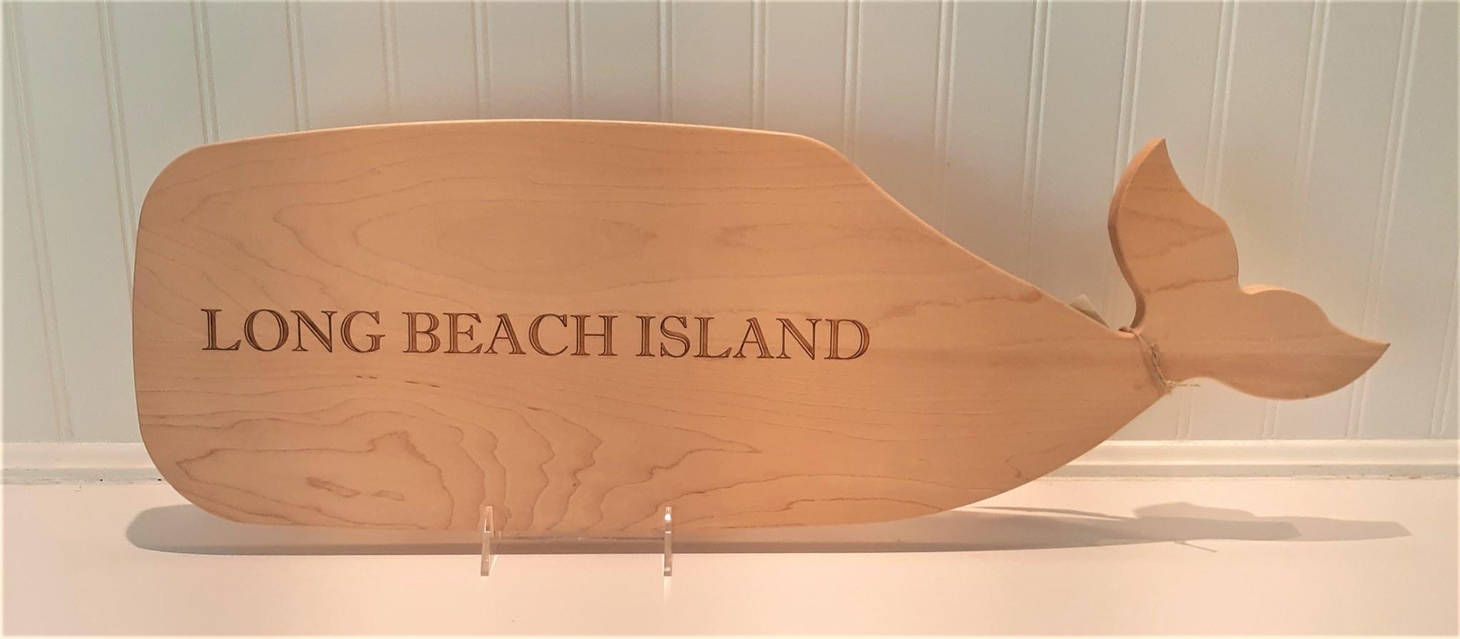 Beach Days Whale Cutting Board Long Beach Island