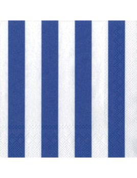 Boston International Big Stripes Dark Blue Cocktail Napkins