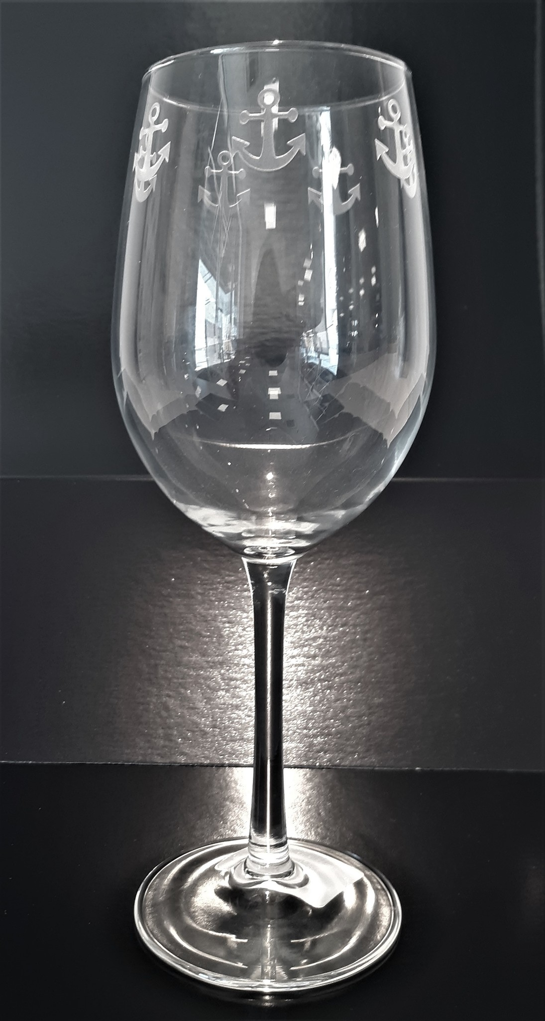 Rolf Glass Anchor Goblet White Wine 12oz