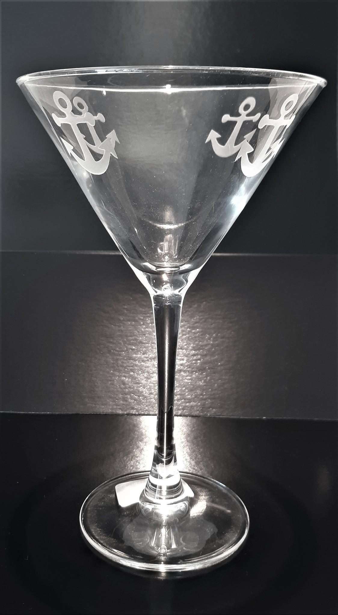Rolf Glass Anchor Martini 10oz
