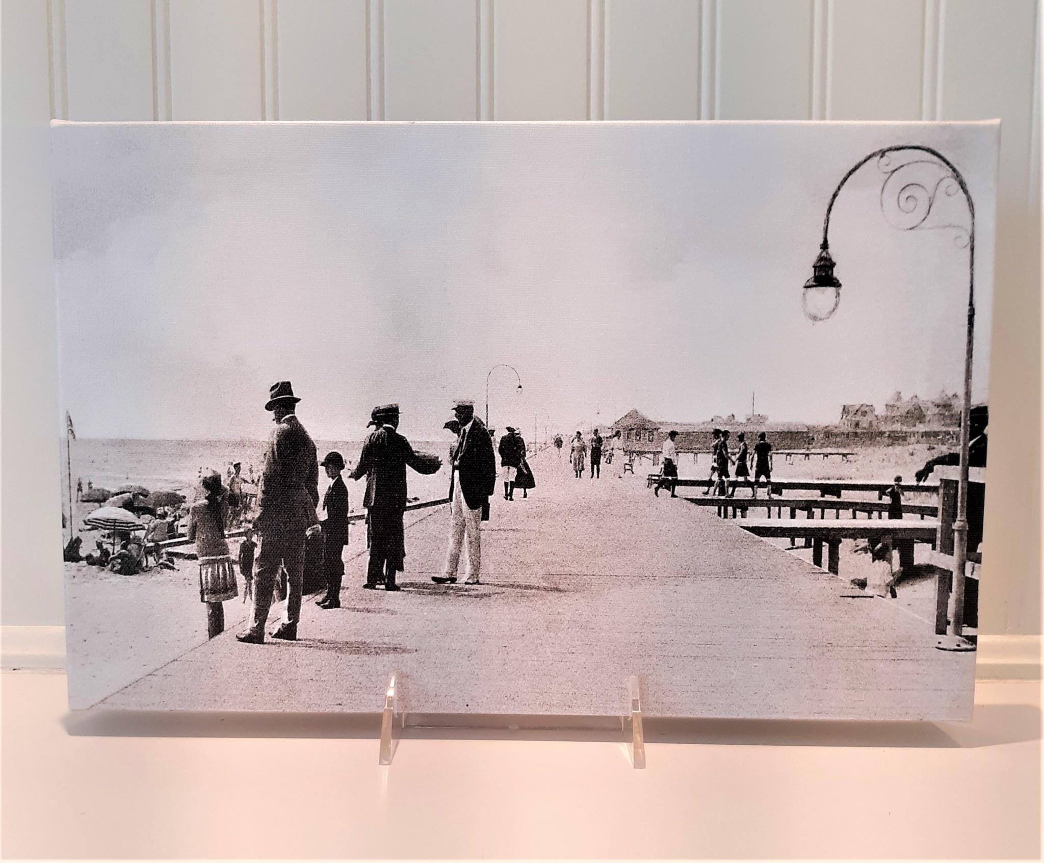 Canvas 9x14 Beach Haven Boardwalk