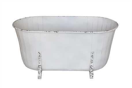 Metal Tub White Finish