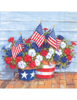 Patriotics Petunias Lunch Napkins