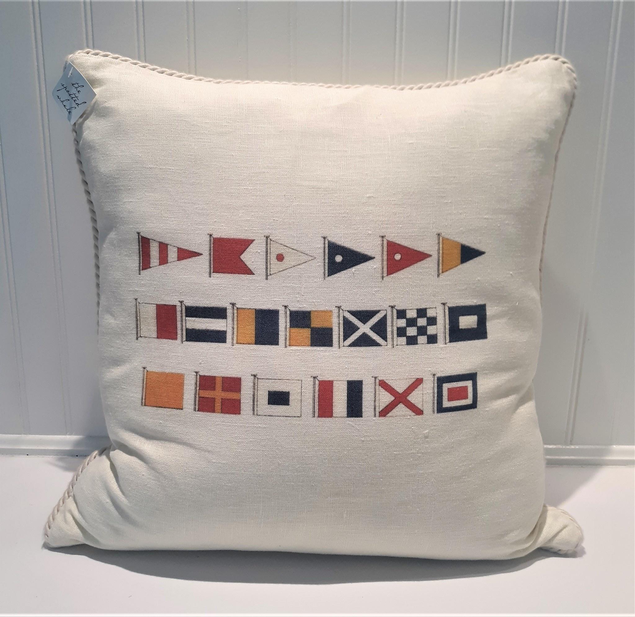 Nautical Flags Pillow