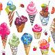Summer Ice Cream Cocktail Napkins