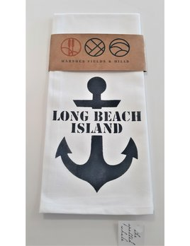Tea Towel  Anchor image with Long Beach Island