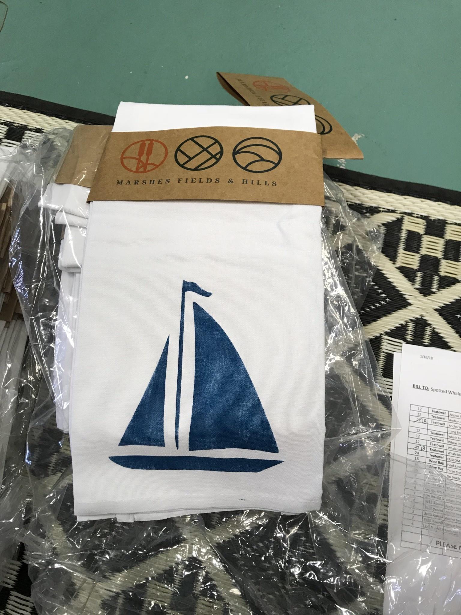 Tea Towel Sailboat