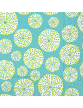 Turquoise Urchin Lunch Napkins
