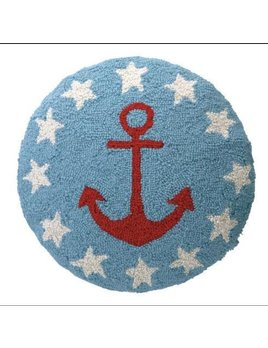 Anchor and Stars Hooked Pillow