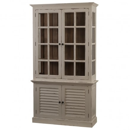 2 Door Cottage Cabinet with Glass Cottage Collection