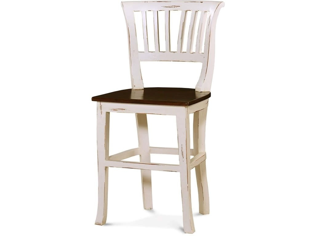 Manchester Counter Stool with Wooden Seat Aries Collection