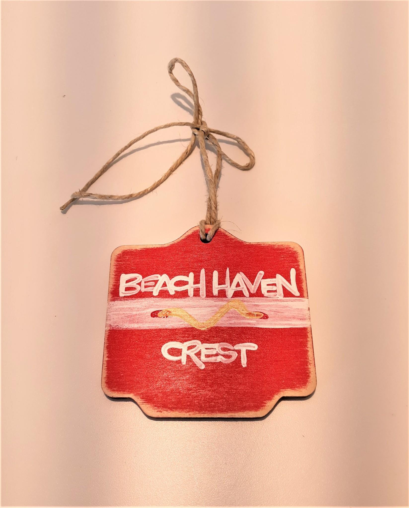 Beach Badge Ornament