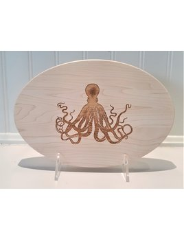 Cutting Board Octopus Oval 9x6