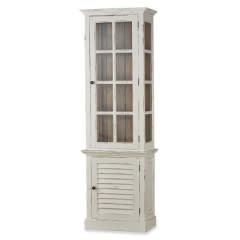 Cottage Tall Cabinet with Glass