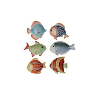 Hand-Painted Stoneware Fish Dish, 6 Styles