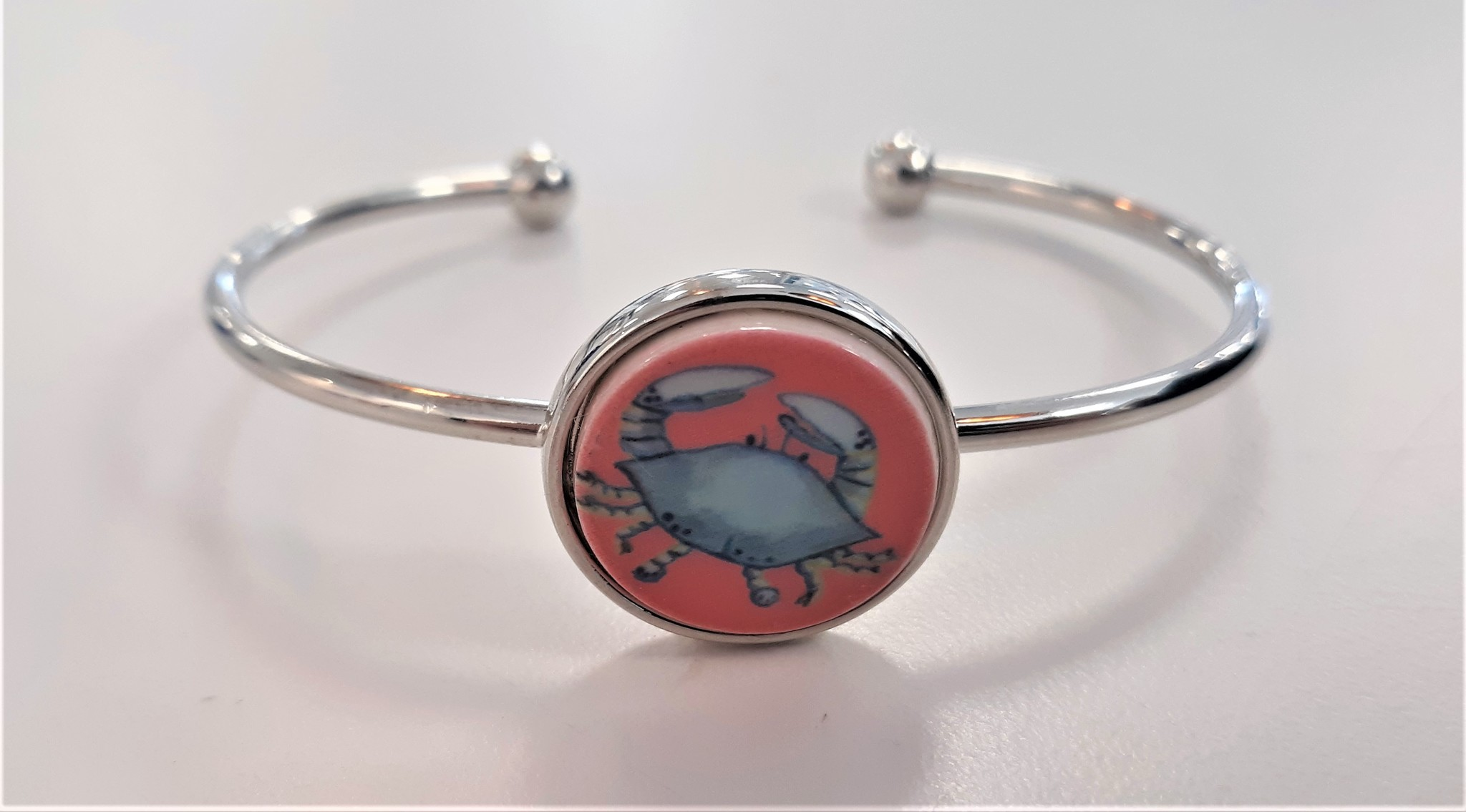 Crab Charm Bracelet
