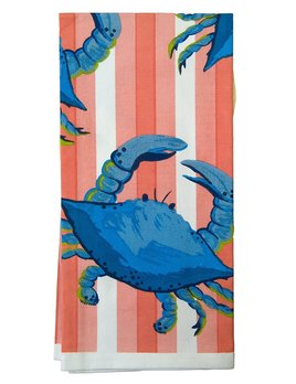Crab on Red Kitchen Towel