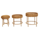"""20"""" Round x 20""""H  Woven Water Hyacinth & Rattan Table"""
