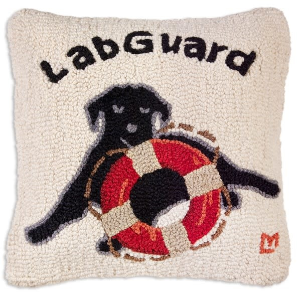 Lab Guard 18x18 Hooked Pillow