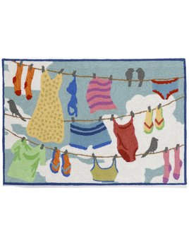 Clothes Line Multi Rug 24x36