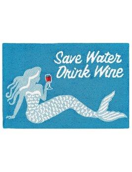 Save Water Drink Wine 24x36 Rug