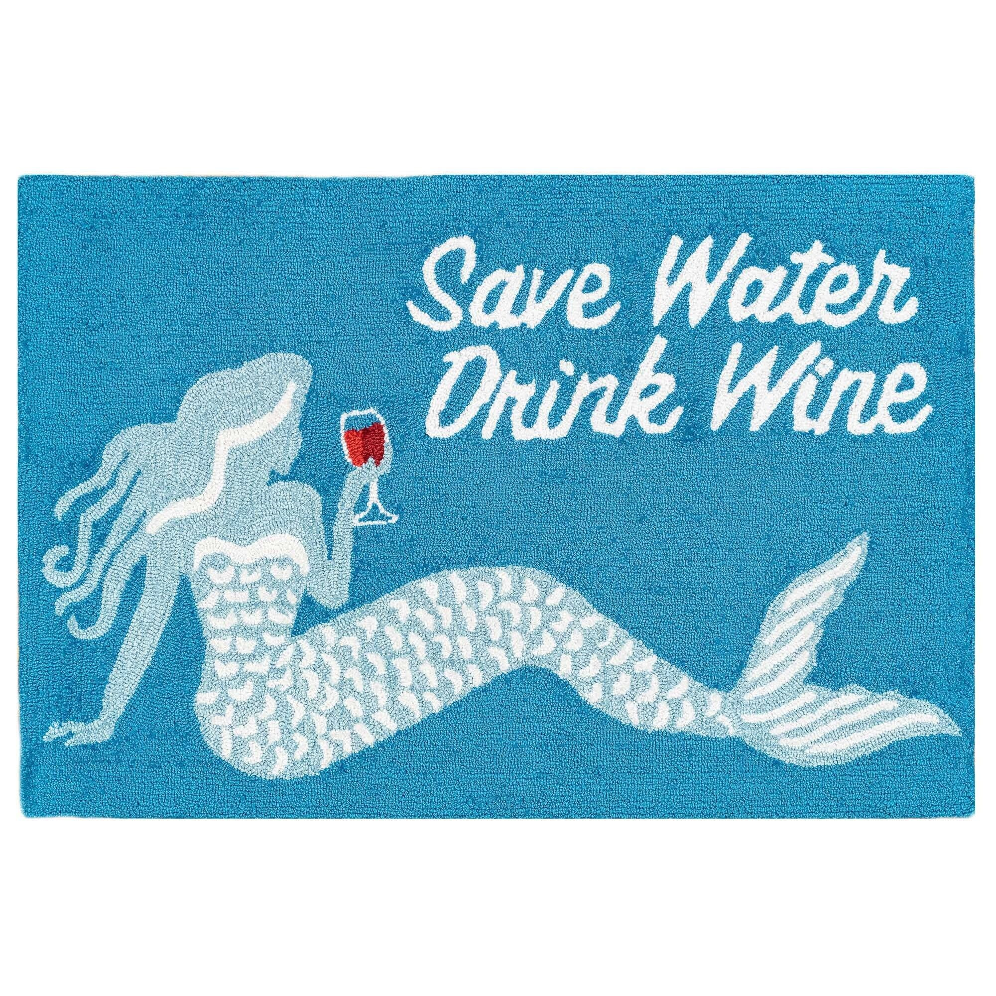 Save Water Drink Wine 24x36 Rug