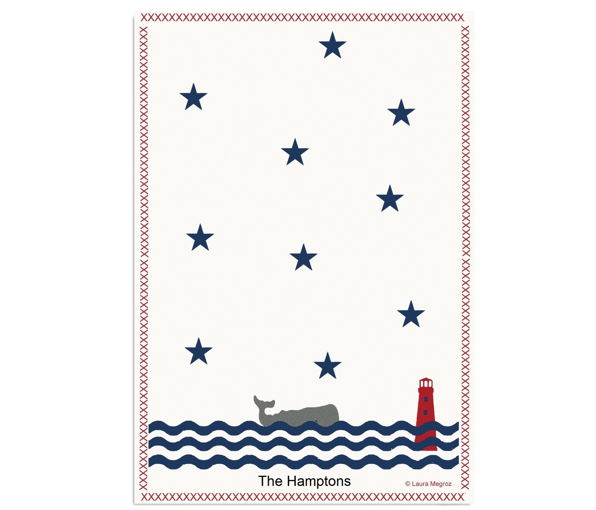 Wavy Whale 18x26 Kitchen Towel